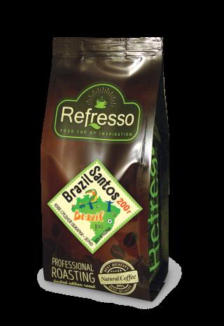 Refresso моносорта - Бразилия Сантос зерно 200 гр