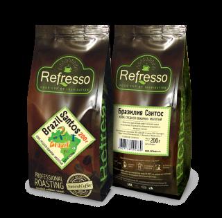 Refresso моносорта - Бразилия Сантос молотый 200 гр