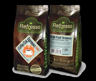 Refresso Coffee Club Espresso зерно 500г.