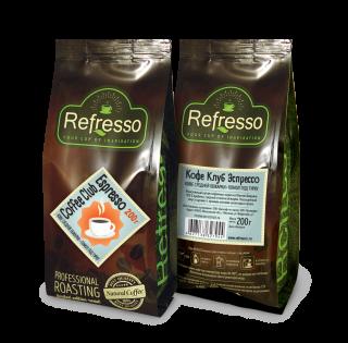 Refresso Coffee Club Espresso молотый 200 гр под турку