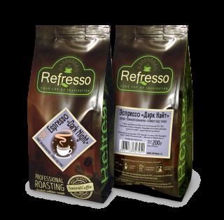 Refresso Espresso «Dark night» молотый 200 гр под турку
