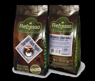 Refresso Espresso «Dark night» зерно 500г.