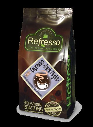 Refresso Espresso «Dark night» молотый 500г.