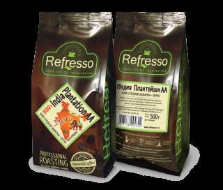 Refresso моносорта - Индия Плантейшн АА зерно 500 гр