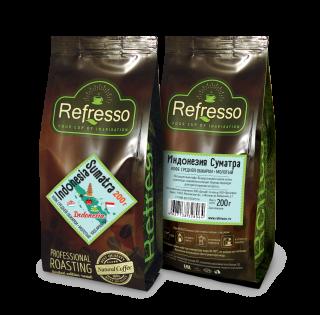 Refresso моносорта - Индонезия Суматра молотый 200 гр