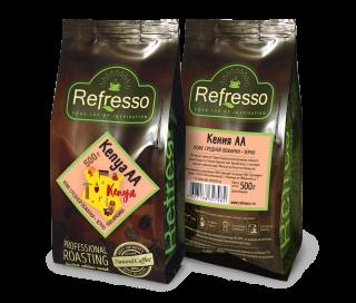 Refresso моносорта - Кения АА зерно 500 гр