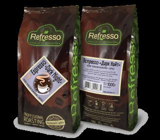 Refresso Espresso «Dark night» зерно 1000г.